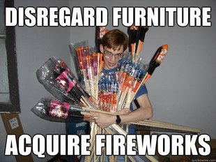 Crazy Fireworks Nerd