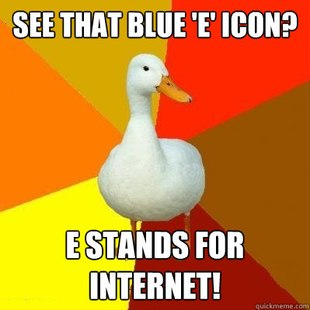 Tech Impaired Duck