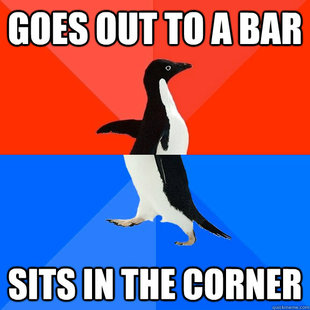 Socially Awesome Awkward Penguin