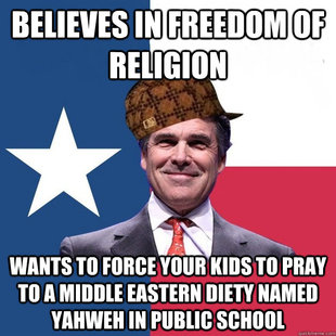 Scumbag Rick Perry