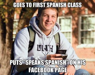college freshman meme