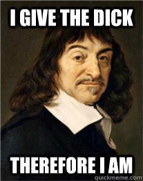 make your own Porn Video Descartes commentator meme using our meme generator