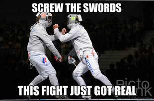 Fighting fencers