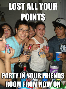 Awkward party picture