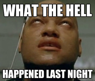 Hangover Morpheus meme   quickmeme