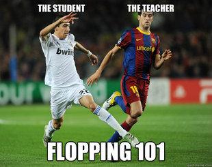 Flopping in soccer meme quickmeme