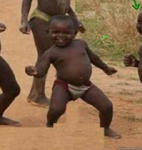 dancing african baby