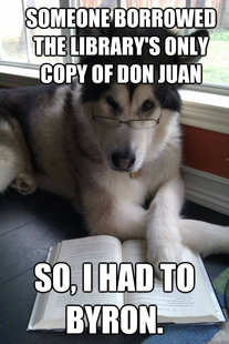 Condescending Literary Pun Dog