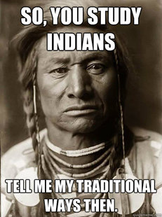 Unimpressed American Indian