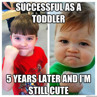 Success Kid Through Time