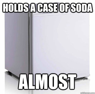 Scumbag mini-fridge