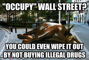 Blatantly Lying Wall Street Bull