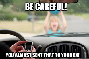 Texting while driving meme