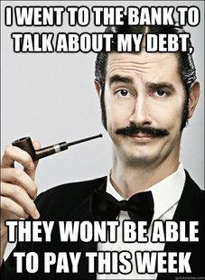 bf9e8a21a88e Big banks seen as less evil than before but still jpg 227x310 Bank sales  meme