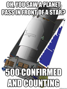 unimpressed kepler space telescope