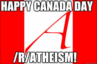 Canadian Atheist flag
