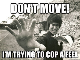 Bruce Lee Cop A Feel
