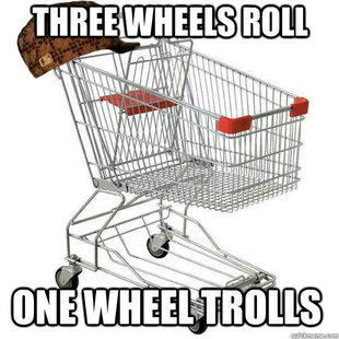 Scumbag shopping cart
