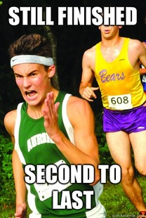 Intense Cross Country Kid
