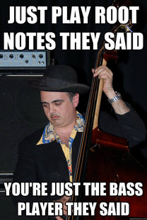 bored bass player
