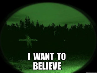 i want to believe in ghosts