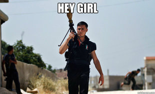 Ridiculously Photogenic Syrian Soldier