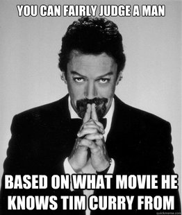 Tim Curry judge of a man