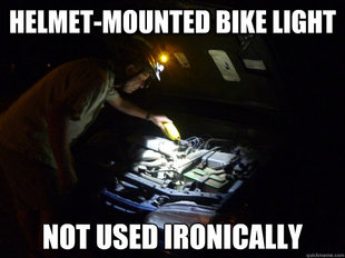Helmet-Mounted Bike Light