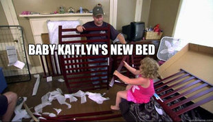 Baby Kaitlyns New Bed
