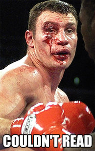 Vitali wrecked