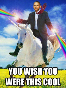 Obama rainbow unicorn
