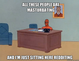 masturbating spiderman