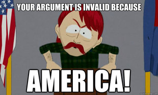 Ignorantly tolerant cartoon redneck