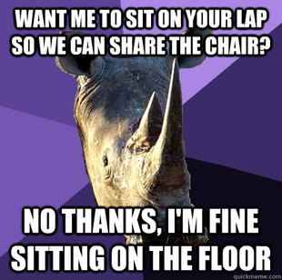 Sexually Oblivious Rhino