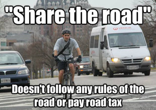 Scumbag cyclist