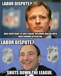 Good Guy Goodell  Bad Guy Bettman