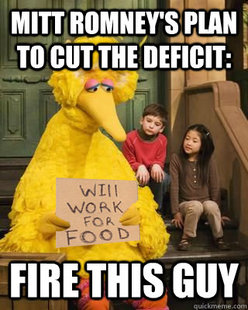 Romney made Big Bird sad