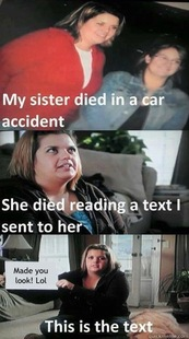 car accident text