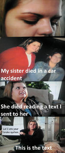 My sister died in a car accident