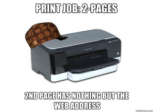 Scumbag Printer