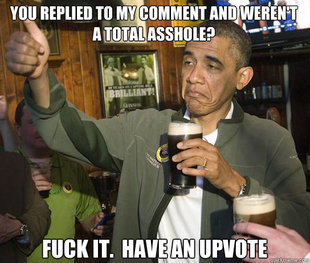 Upvoting Obama