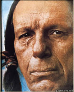 Sad Native American