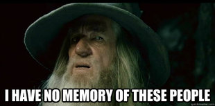 I have no memory Gandalf