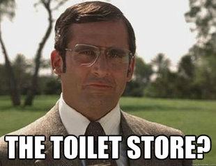 anchorman brick tamland toilet store memes quickmeme