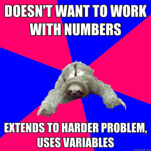 Math Major Sloth