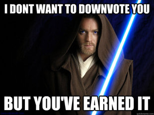 Downvoting Kenobi
