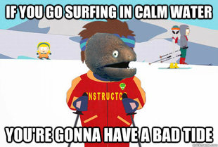 Bad Joke Ski Instructor Eel