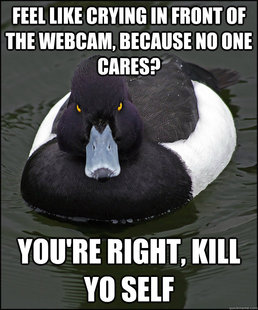 Angry Advice Duck