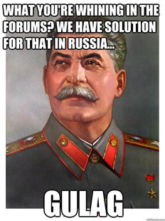 Shit talker Stalin