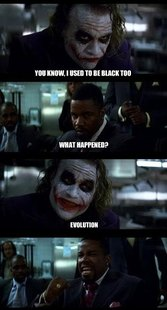 Joker with Black guy
